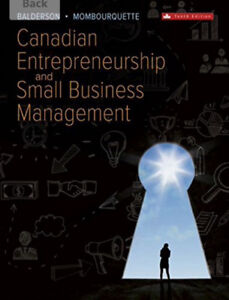 Canadian entrepreneurship and small business management book