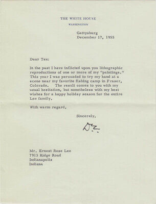 DWIGHT D. EISENHOWER - TYPED LETTER SIGNED 12/17/1955