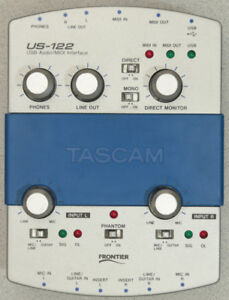Tascam US-122 Audio/MIDI Analog/Digital USB Interface