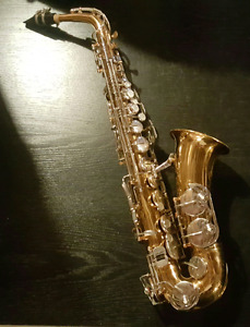 Alto sax with carrying case