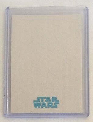 TOPPS STAR WARS • THE FORCE AWAKENS BLANK SKETCH CARD • UNUSED ARTIST PROOF