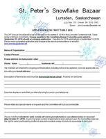 Attention Crafters 39th Annual Snowflake Bazaar