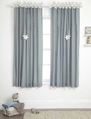 SALE BNWT MAMAS AND PAPAS MILLIE & BORIS BOYS LINED CURTAINS SIZE 132 x 160 CM