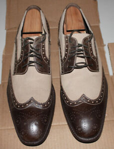 Men's dress shoes, leather and suede, size 11.5