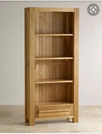 Oak Furniture Land Fresco Solid Oak Tall Bookcase