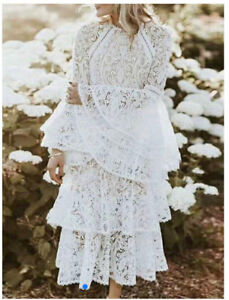AMAZING BRAND NEW DRESS ON SALE! Lace flared sleeves Midi Dress.