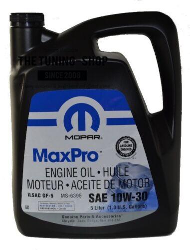 5l ORIGINAL MOPAR ENGINE OIL SAE 10W-30 MaxPro FOR CHRYSLER DODGE JEEP PLYMOUTH