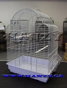 Cage Neuve blanche pour pinsons, perruches, canaries, inséparabl