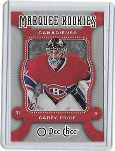 CAREY PRICE .... O.P.C. ROOKIE CARD .... 2007-08 O-Pee-Chee