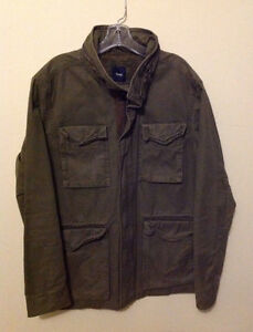 Men's Gap Olive Green Canvas Military Field Jacket/Coat - Size S