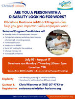 Are you a person with a dissability looking for a job?