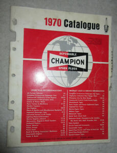 1970 Champion Spark Plugs Catalogue list book reference