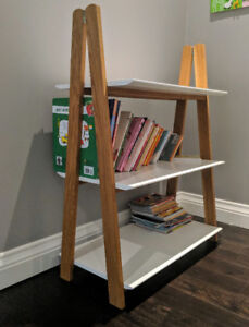 Book Shelf for sale - white & pine wood
