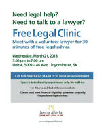 Free Legal Clinic March 21, 2018