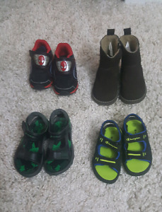 Various boys toddler shoes size 6 to 8