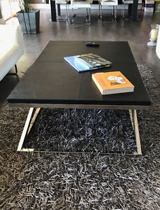 Beautiful Leather and Chrome Coffee Table