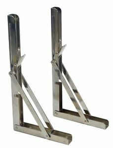 2 PCS of Bracket Chrome Steel Folding Shelf Shelf Table Folding Shelf 330 lbs