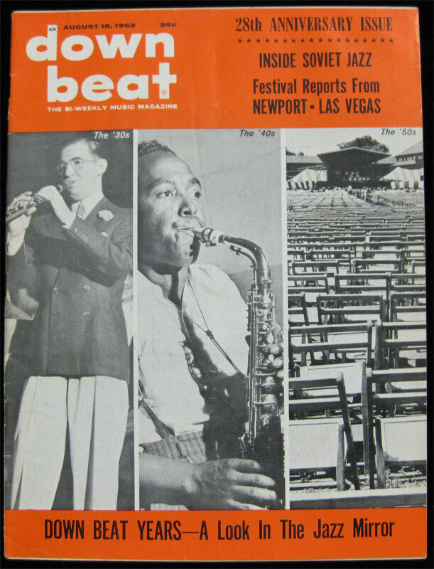 Down Beat Jazz Magazine _RARE Aug 1962  Dizzy Gillespie Newport Jazz Fest Soviet
