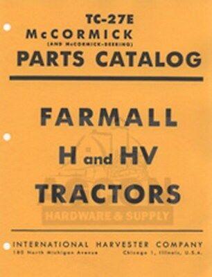 Farmall H Hv Tractor Parts Catalog Manual
