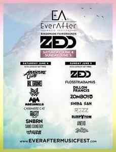 2 Ever After 3-day GA tickets for sale $150 each