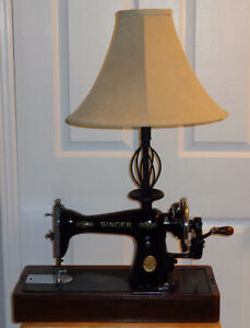 Singer Sewing Machine Table Lamp with Shade