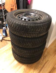 Set of 225/65/17 Winter Tires on Rims 5x114.3 (Toyota Rav4)