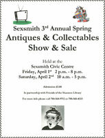 Sexsmith 3rd Annual Spring Antique Sale