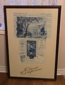 For the Classical Music Fan: 3 Very Large Framed Art Prints Kitchener / Waterloo Kitchener Area image 1