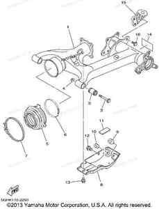 2002 Yamaha kodiak rear swing arm