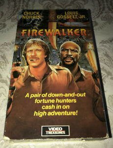 Chuck Norris 1986 VHS Movie Firewalker Cult Action Comedy