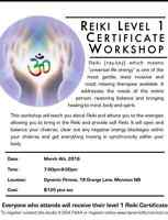 Reiki Certificate Training- Level One