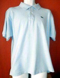 LACOSTE - Light Blue Mens Casual Polo shirt, Size 6