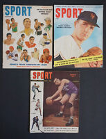 3 1940's & 1950's Sports Magazine -Collector's Items - LOOK! ]