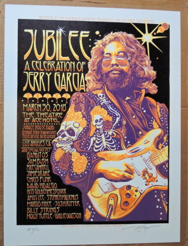 JERRY GARCIA - JUBILEE CELEBRATION - LA - GRATEFUL DEAD - 2018 - AJ MASTHAY