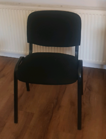Black padded stackable chairs x8 £19 each