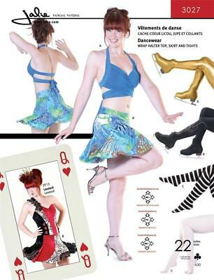 (Jalie Dancewear Halter Top Skirt Tight Dance Skating Costume Sewing Pattern 3027)