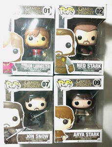 4x Game of Thrones Funko Pop - 1st & 2nd Edition