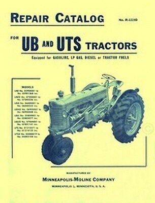 Minneapolis Moline Ub Ube Ubed Ubn Parts Manual Catalog
