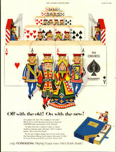 1953 full-page magazine Congress Playing Cards
