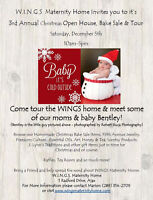 WINGS MATERNITY HOME 3rd ANNUAL CHRISTMAS OPEN HOUSE & BAKE SALE