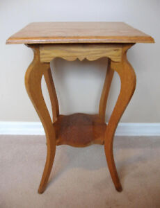 Vintage Occasional Table, Solid Wood, Rustic