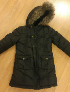 Girls Winter Long Jacket Size XS Old Navy