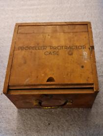 Propeller Protractor in box.
