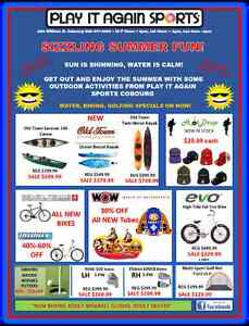 SIZZLING SUMMER FUN SALE @ PLAY IT AGAIN SPORTS COBOURG