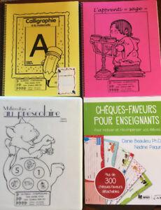 4 livres pour la maternelle pour les enseignants!