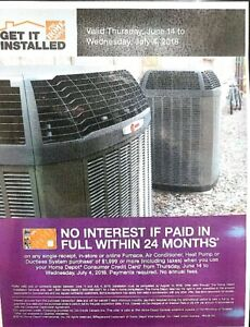 Home Depot Furnace / Air Conditioning Installations