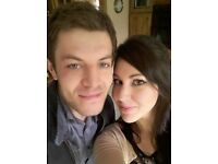 Cheerful couple looking for a room for short term let from August