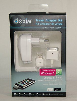 TRAVEL ADAPTER KIT DCA149 W PASSEND IPHONE 4 3GS 3G IPOD NEU OVP