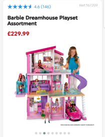 Barbie Dream House NEW ! 8 Rooms ,Light,Sound ,Interactive house