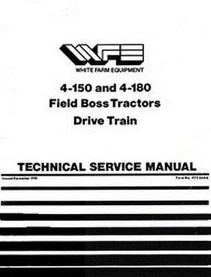 White 4-150 4-180 Field Boss Drive Train Service Manual